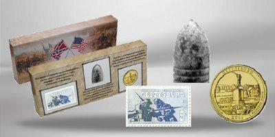 usa-vereinigte-staaten-von-amerika-united-states-set-150-jahre-gettysburg-25-us-cent-gettysburg-brie