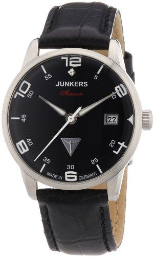 Junkers Damen-Armbanduhr Wellblech Flatline Automatik Cal. 9015 Analog Automatik Leder 63652