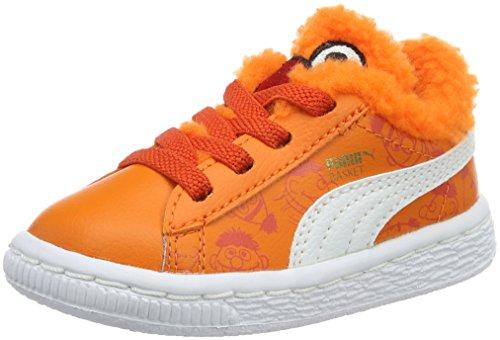 Puma Unisex-Kinder Basket Sesame B&e Ac Low-Top Orange (Dandelion-vibrant Orange-puma Black 01) KxwpMGMgiu
