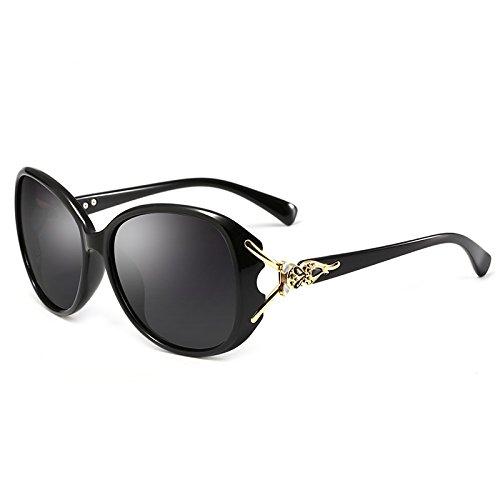 Yiph-Sunglass Sonnenbrillen Mode Frauen Polarisierte Sonnenbrille Mode Fox Kopf Form UV400 Sonnenbrille Übergroßen Kristallrahmen Sonnenbrille (Color : 2)