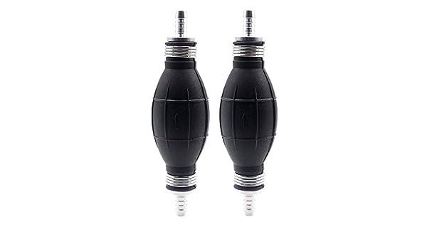 "10mm Black Rubber Fuel Pump Hand Primer Bulb One Way Valve for Diesel US 3//8/"""