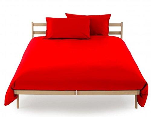 Sacco copripiumino sacca vestifacile letto singolo una 1 piazza zucchi clic clac misura 155 x 200 100% puro percalle di cotone (fuoco - 1146)