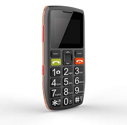 Teléfonos móviles para Mayores con Teclas Grandes, Artfone C1 Senior, fácil de Usar Celular para Ancianos con botón SOS, Cámara, Naranja