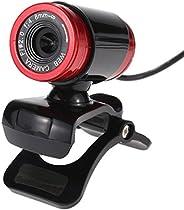 كاميرا ويب كاميرا USB 2.0 بدقة 50 ميجابكسل مع مشبك ميكروفون 360 درجة لسكايب لاب توب والكمبيوتر المكتبي