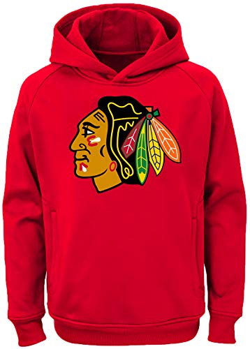 Outerstuff NHL Youth 8-20 Team Color Performance Primary Logo Pullover Hoodie Hoodie, Jungen, Chicago Blackhawks Red, X-Large 18/20 US