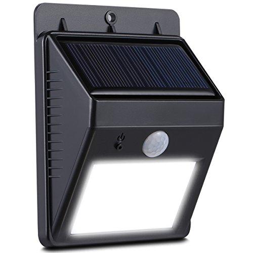 Duractron 8 LED Solar Leuchte Solarlampe Wegeleuchte mit Bewegungssensor(Wasserdicht)