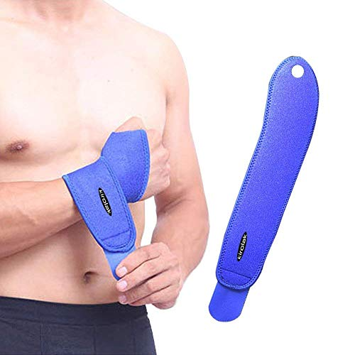 f8414934c55cb KIROLAK Wrist Wrap Strap Support Brace, Exercise Training Hand Protector  with Thumb Loops for Fitness Exercise WeightLifting - Blue