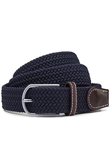 EZYBELT Herren Komfort Stretch-Gürtel Marine-Blau Größe L (Marine-blau-chino-shorts)
