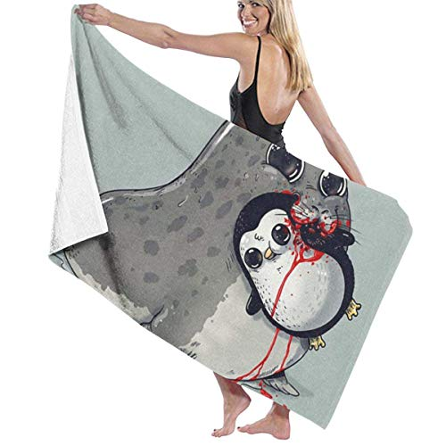 xcvgcxcvasda Badetuch, Cute Sea Lion and Penguin for Spa Pool Bathroom Sand Cotton Blanket Towels Set (Yankee-kerzen-verkauf)