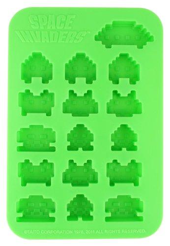 50Fifty Concepts - Bandeja para cubitos de hielo, diseño de Space Invaders