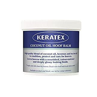 Keratex Signature Coconut Oil Hoof Balm - Black x 400 Gm - Black - Clear, Unisex,KCOHB BL 7
