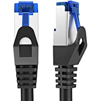 KabelDirekt 1,5m Câble Réseau Local Ethernet Cat6 Gigabit (RJ45), STP, Rétroactivement Compatible (Cat5, Cat5e), Noir, Pro Series