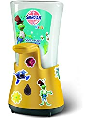 Sagrotan KIDS No-Touch Automatischer Seifenspender für Kinder inkl. Nachfüller Entdeckerpower und Sticker, Flüssige Handseife, 1er Pack (1 x 250ml)