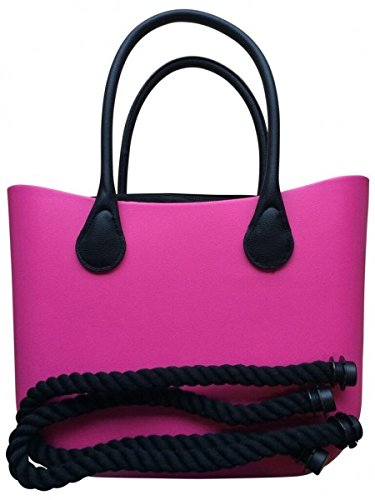 Deininger bags, Borsa tote donna Navy and Flat Party Fuchsia