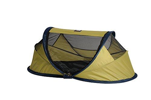 Preisvergleich Produktbild Deryan Travel-cot Baby Luxe Reisebettzelt inklusive Schlafmatte, selbstaufblasbarer Luftmatratze und Tragetasche mit Pop-Up innerhalb 2 Sekunden aufgebaut, lime