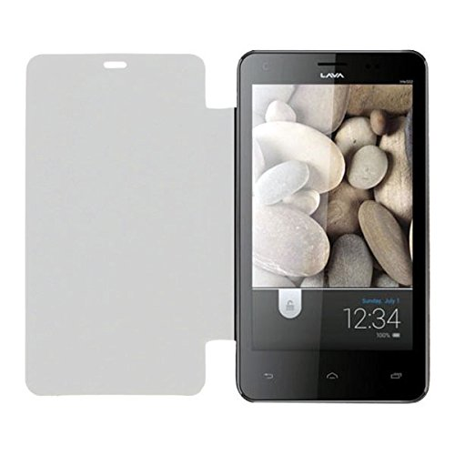 Acm Leather Diary Folio Flip Flap Case For Lava Iris 502 Mobile Front & Back Cover White  available at amazon for Rs.323