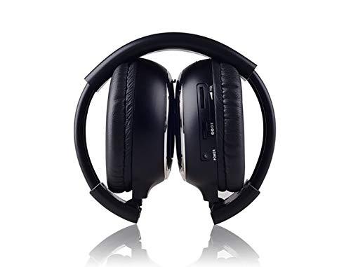 ZUEN Drahtloser Infrarot-Faltkappe Universal Rear Entertainment System Infrarot-Kopfhörer Für In Auto-TV Video-Audio-Listening,Black -