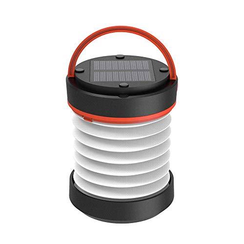 Brilex Solar Camping Linterna, LED al Aire Libre Recargable de Linterna de Emergencia, LED Linterna Lámpara Colgante Portátil Solar Luces con USB Recargable