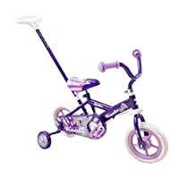 "Spike Koala 10"" Wheel Kids Childs Trike Balance Bike Steering Girls Stabilisers Training Bike Purple & Parent Handle"