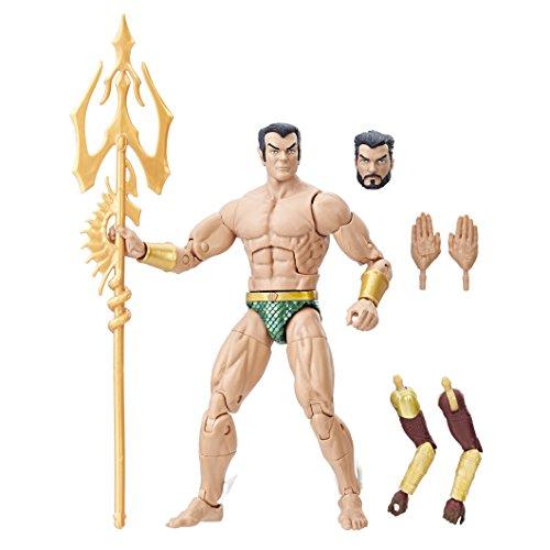 Marvel e1577el2black panther legends series sub-mariner action figure, 15,2cm