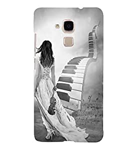 FUSON Stairs Of Piano Key 3D Hard Polycarbonate Designer Back Case Cover for Huawei Honor 5c :: Huawei Honor 7 Lite :: Huawei Honor 5c GT3