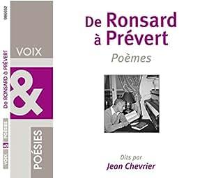 CD: de Ronsard à Prévert, Poèmes