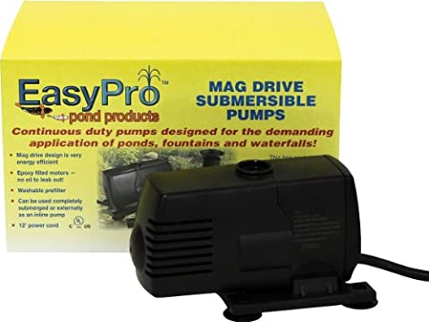EasyPro EP200 Submersible Mag Drive Pond Pump, Max Flow 200 Gallons-Per-Hour