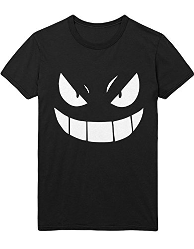T-Shirt Poke Go Gengar Team Rocket University Hype Nerd Game C210014 Schwarz (Team Rocket Kostüm Schwarz)