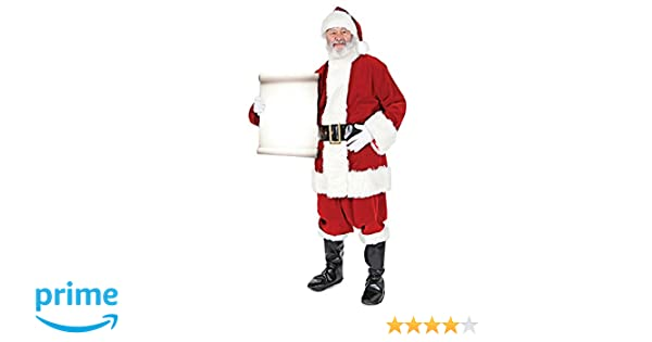 Star Cutouts SC15 Holding Official Lifesize Decoration Santa Father Christmas with Small Sign Perfect for Grottos and Festive Displays Including Shops Height 180cm
