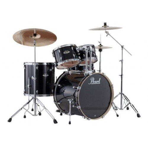 batterie-pearl-export-standard-22-jet-black-avec-cymbales