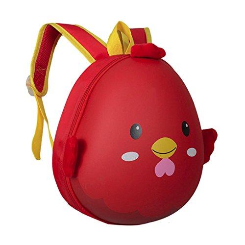 sunnymi Unisex ★Kinder Rucksack★ Kinder Gartentasche/Süß Beutel Karikatur Tier Kleine Eierschale/Schule Baby-Kindergarten Mädchen Jungen Mini Backpack (Rot)