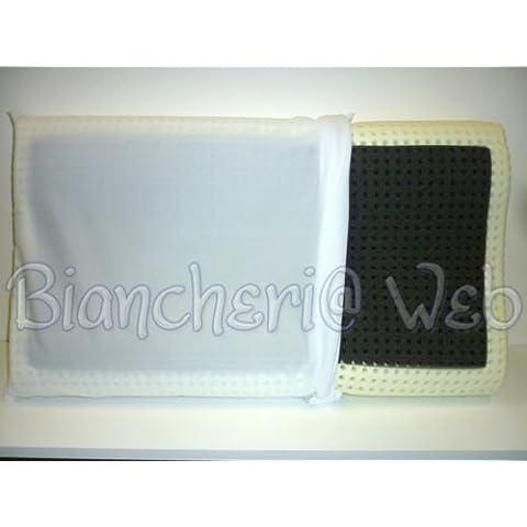 Biancheriaweb - Cuscino guanciale lattice nero fresco benessere made in italy; Ergonomico (cervicale)