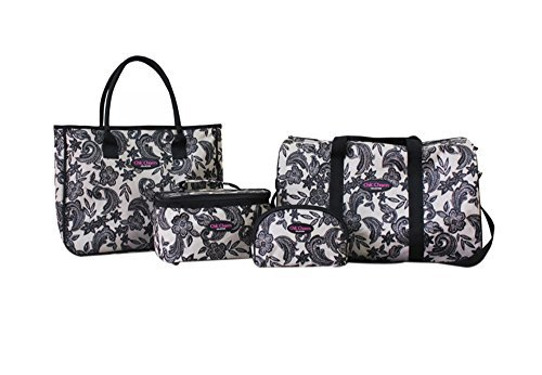 jacki-design-abx15036-travel-tote-and-cosmetic-bag-set-4-piece-by-jacki-design