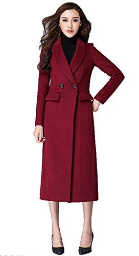 Insun Damen Trenchcoat Mantel Gr. 32, (Length Roten Mantel Floor)