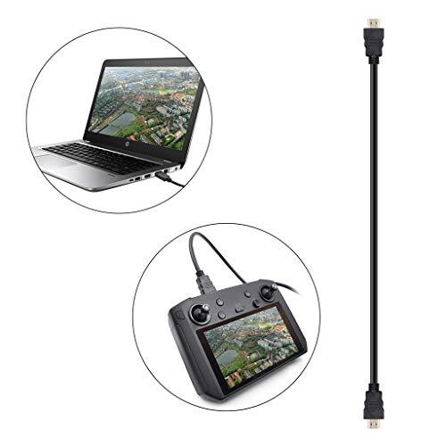 Fuibo Fernbedienung 4K HDMI Video Echtzeitübertragungsdaten Kabel für DJI-Drohne (Schwarz) -