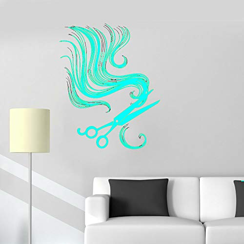 Friseur Wandaufkleber Haarscheren Schönheitssalon Wanddekoration Vinyl Kunst Design Poster Moderne Mode Ornament ~ 1 42 * 50 cm
