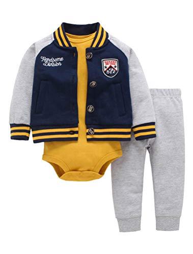 ARAUS Baby Outfit Kleidung Set Spielanzug Frühling Baumwolle Bodysuit Herbst Romper Overall Kapuzenpullover 3-24 Monate - 9 Overall Monate