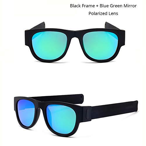 YOGER Sonnenbrillen Sonnenbrille Polarisierte Spiegel Frauen Slappable Armband Sonnenbrille Für Männer Armband Falten Shades Bunte Mode