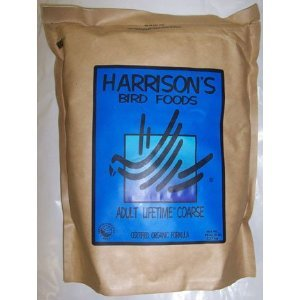 Harrison`s Adult Lifetime Coarse 5lb - Complete Organic Parrot food  by Harrison's Bird Foods