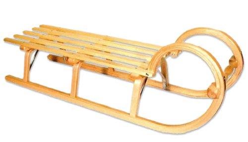 Holzschlitten / Hörnerrodel Ress mit Lattensitz 115 cm