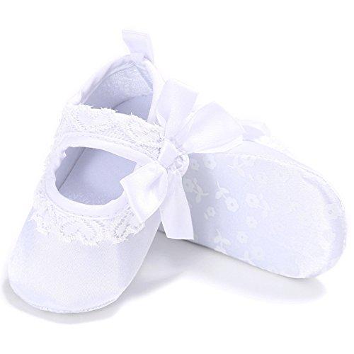 Etrack-Online  Ballet,  Baby Mädchen Mary Jane Halbschuhe Weiß