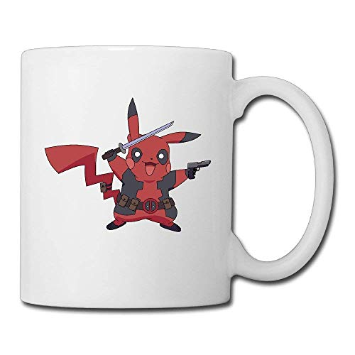 Cool Pikapool Pikachu Deadpool Ceramic Coffee Mug, Tea Cup | Best Gift For Men, Women And Kids - 13.5 Oz, White