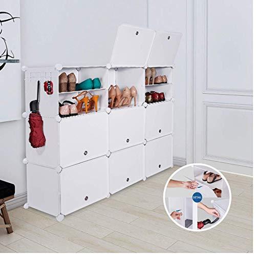SoMix DIY Schuhschrank, Schuhregal Aufbewahrung Lagerregal Garderobenschrank Schuhablage,...