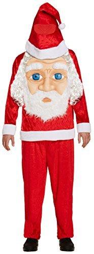 Santa Claus Riesige Gesicht Jungen Kostüm Riese Kopf Weihnachten Kinder Kostüm -