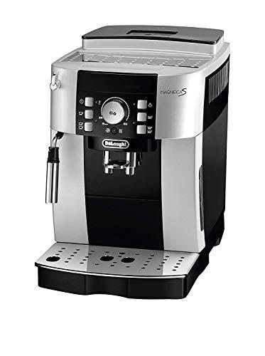 De\'Longhi Magnifica S ECAM 21.116.SB Kaffeevollautomat (Direktwahltasten und Drehregler, Milchaufschäumdüse, Kegelmahlwerk 13 Stufen, Herausnehmbare Brühgruppe, 2-Tassen-Funktion) silber/schwarz