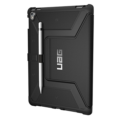 Urban Armor Gear Metropolis für Apple iPad Pro 9.7 Hülle nach US-Militärstandard - [Wake/Sleep, Stylus-Halter, Standfunktion] - schwarz (Iphone 5 Fall Urban)