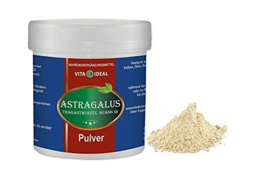VITA IDEAL ® Astragalus Wurzel (Tragantwurzel, Huang Qi) PULVER 300g