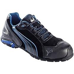 Puma 642750-256-40 Chaussures de sécurité Rio Low S3 SRC Taille 40 Noir, Gris/Bleu/Blanc