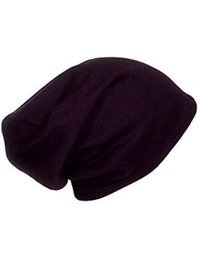 """Gorro Cap Beanie con forro de raso Saten Plum Jersey (Adult size 22"""" (56cm) around the head)"""
