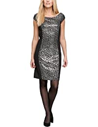 Comma Damen Kleid (knielang) 89.311.82.2605 KURZ Etui, All over Druck Regular Fit